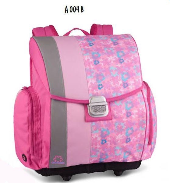 Školní aktovka A 004 B - růžová, Sleva 25%