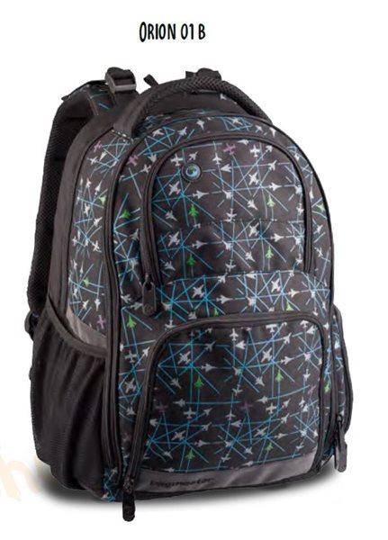 Školní batoh ORION 01 B - černo-šedá