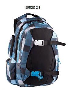 Studentský batoh DIAMOND 03 B - černo-modrá