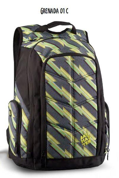 Studentský batoh GRENADA 01 C - zelená, Sleva 25%