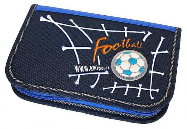 Penál s 1 klopou - Football - 19,5 x 3,5 x 13 cm