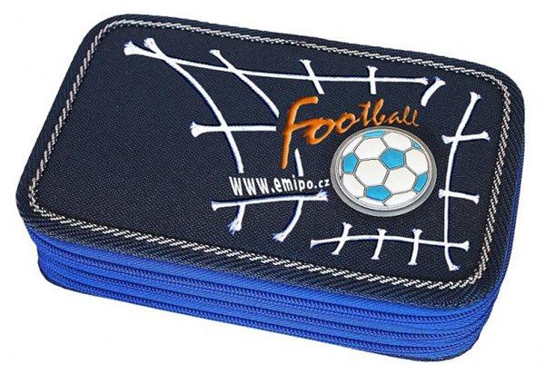 Penál třípatrový - Football - 19 x 5,5 x 12 cm