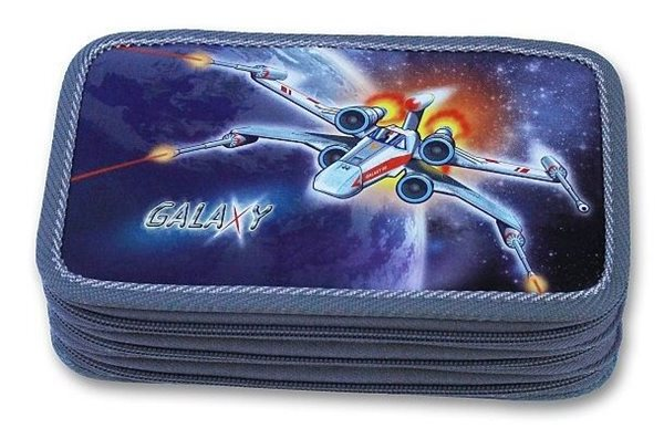 Školní penál - Galaxy - třípatrový