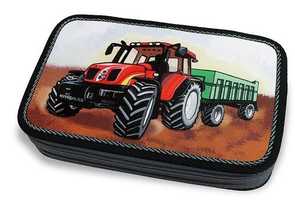 Školní penál - Traktor - dvoupatrový