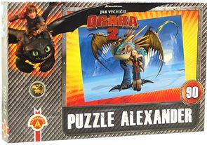 Puzzle - Jak vycvičit draka 2 - Teplo a zima, 90 dílků