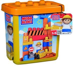 Stavebnice v plastovém kyblíku - Malý stavitel - Mega