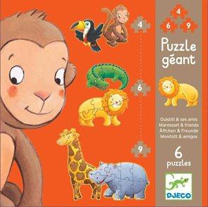 Puzzle pro nejmenší - Džungle 4,6,9