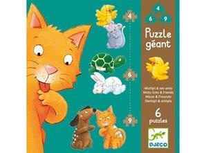 Puzzle pro nejmenší - Zvířata 4,6,9