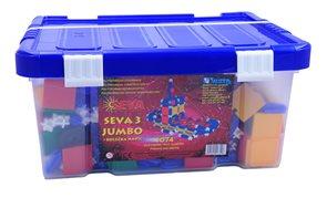 Stavebnice SEVA 3 Jumbo - box /1074 dílů/