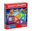 Magformers - 14 (14 dílů- 6 čtverců a 8 trojúhelníků)