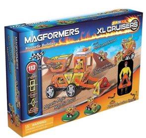 Magformers - XL Cruiser Stavební auto ( 29 dílů - 8 čtverců, 6 trojúhelníků, 2 lichoběžníky, 5 obdél