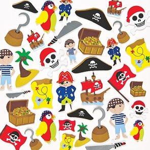 Samolepky pěnové - Piráti 96 ks