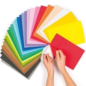 Pěnovka 22,5×15 cm - samolepící - mix 10 barev