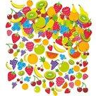 Samolepky pěnové - Ovoce - 120 ks