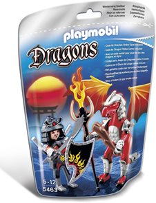 Ohnivý drak s válečníkem - Playmobil