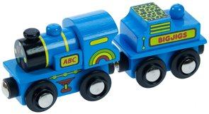 Modrá mašinka s vagónkem