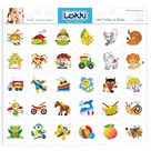 Papírové rozlišující samolepky pro mateřské školky - Oblíbené