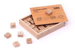 Dřevěná rozlišovací razítka pro mateřské školky / Basic/