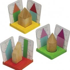 3D tvary a stíny /didaktická skládačka/