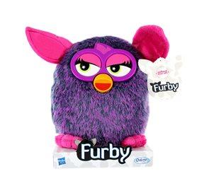 Furby Voodoo plyšový 20 cm fialový, na podstavci