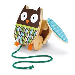 Sovička - tahací dřevěná hračka - Kamarádi ze stromu