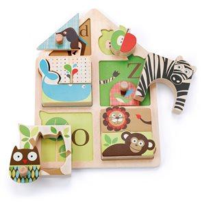Puzzle zvířátka, ABC - dřevěné