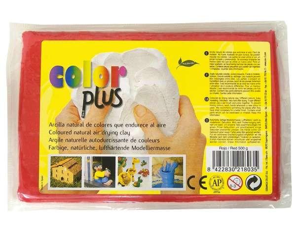 Keramická hmota Color Plus bez výpalu - 0,5 kg červená