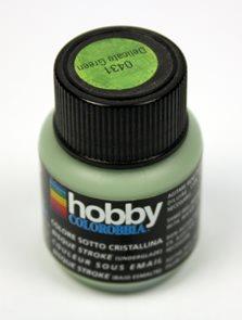 Podglazurní barva - Jemná zelená, 29,5 ml