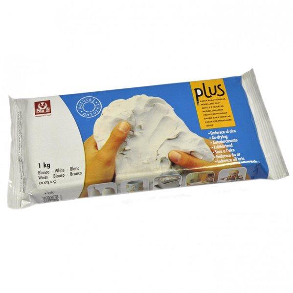 Keramická hmota Plus bez výpalu - 1,0 kg bílá
