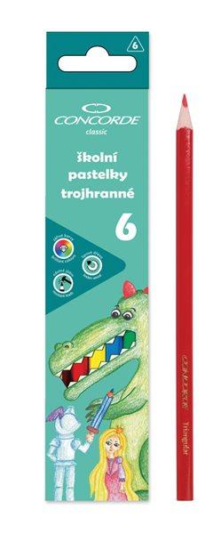 Pastelky CONCORDE trojhranné - 6 barev