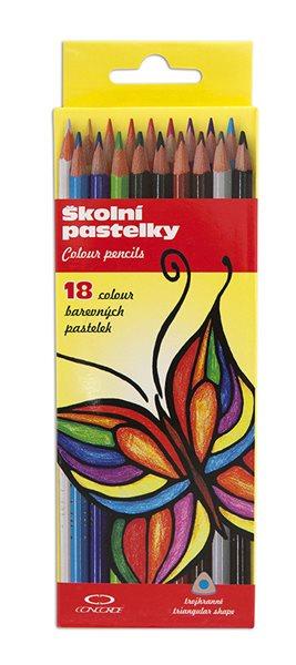 Pastelky CONCORDE trojhranné - 18 barev