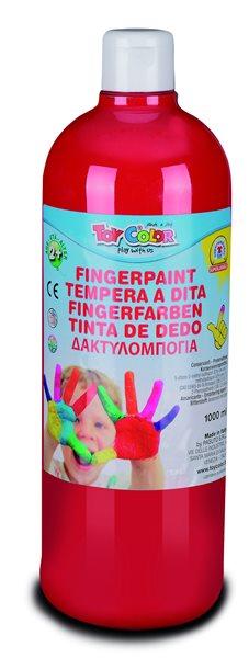 Prstová barva Toy Color - 1000 ml - červená