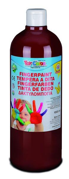 Prstová barva Toy Color - 1000 ml - hnědá