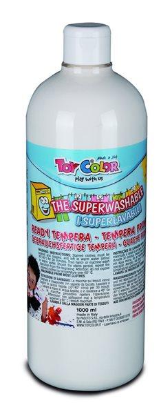 Temperová barva Toy Color - 1000 ml - bílá