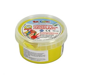 Prstová barva TOY COLOR - 180 ml - barva žlutá