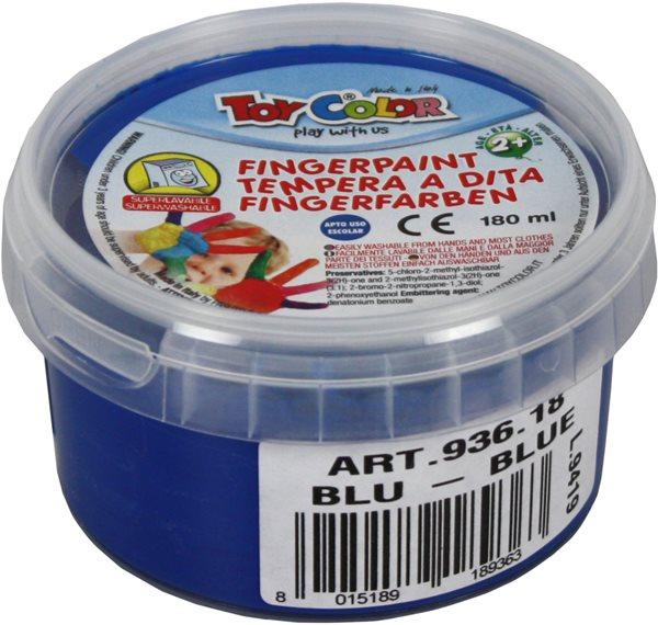 Prstová barva TOY COLOR - 180 ml - barva modrá