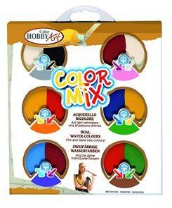 Vodové barvy Hobby Art - Colormix 57 mm - 6 barev