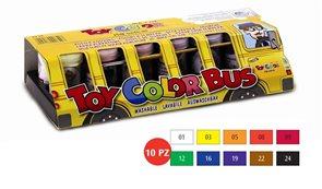Temperové barvy Toy COLOR - 10 barev - 25 ml