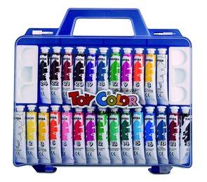 Temperové barvy TOY Color - 26 barev, 7,5 ml