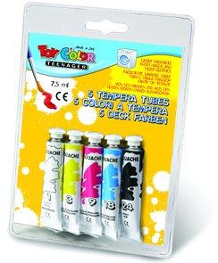 Temperové barvy TOY Color - 5 x 7,5 ml