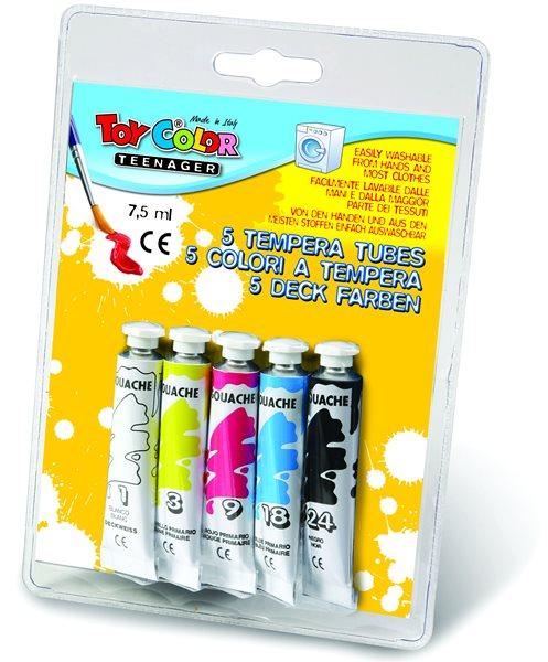 Temperové barvy TOY Color - 5 x 7,5 ml, Sleva 20%