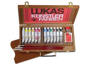 Sada olejových barev LUKAS Studio - v dřevěném kufříku
