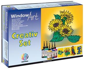 Barvy na sklo Nerchau - kreativní set - 5 x 80 ml