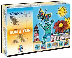 Barvy na sklo Nerchau - letní set - 7x80 ml