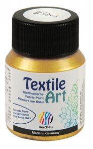 Barva na textil Nerchau - Textile Art - 59 ml - zlatá