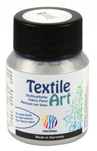 Barva na textil Nerchau - Textile Art - 59 ml - stříbrná