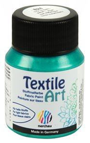 Barva na textil Nerchau - Textile Art - 59 ml - zelená metalíza