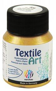 Barva na textil Nerchau - Textile Art - 59 ml - zlatý glitr