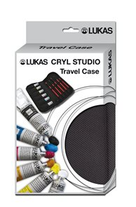 Akrylové barvy LUKAS Studio - 6 x 20 ml + 5 x štětec