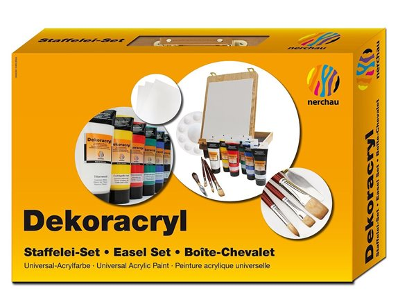 Dekorativní akrylové barvy Nerchau - malířský set